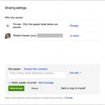 Google Drive sharing